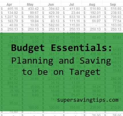 Budget essentials: Planning and Saving to be on Target