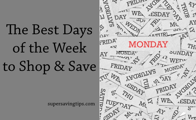 The Best Days of the Week to Shop and Save