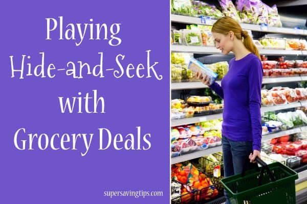 Playing Hide-and-Seek with Grocery Deals