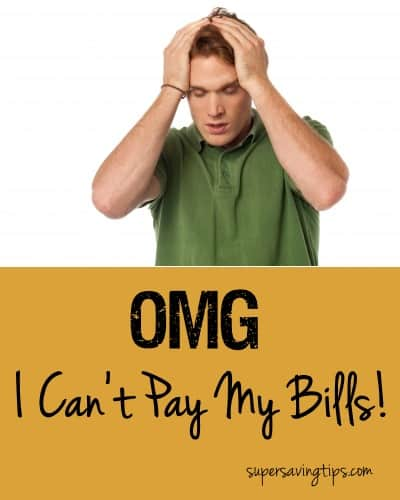 OMG I Can't Pay My Bills