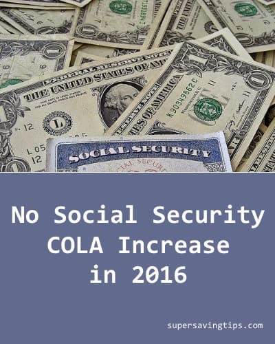 No Social Security COLA Increase in 2016