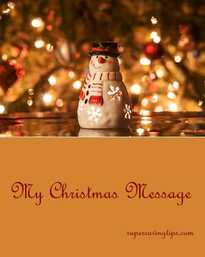 My Christmas Message
