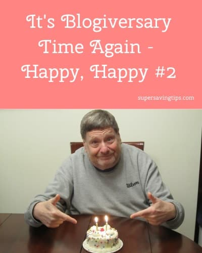 It's Blogiversary Time Again - Happy, Happy #2