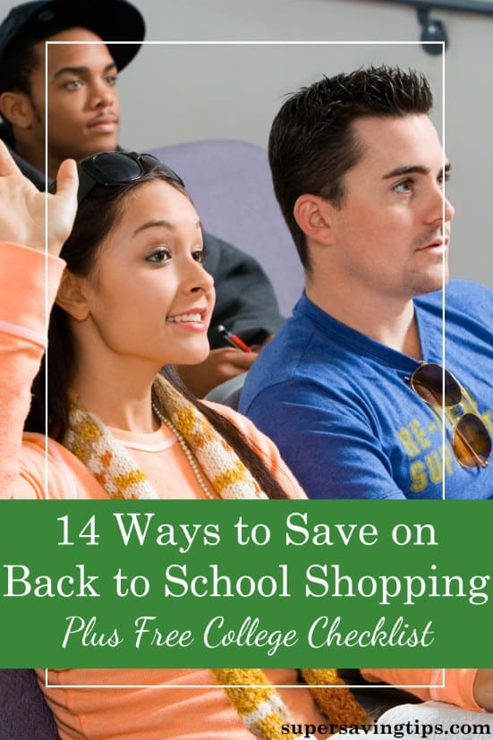 15 Ways to Save on Your Back to School Shopping