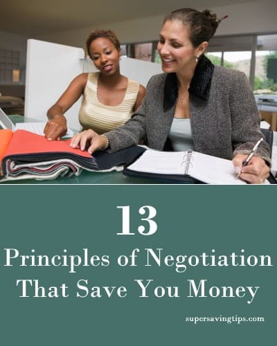 13 Principles of Negotiation That Save You Money