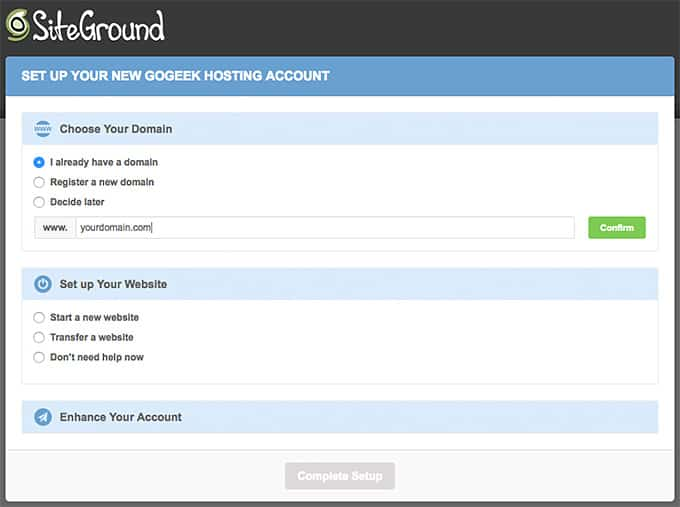 Starting a Blog - SiteGround Step 3