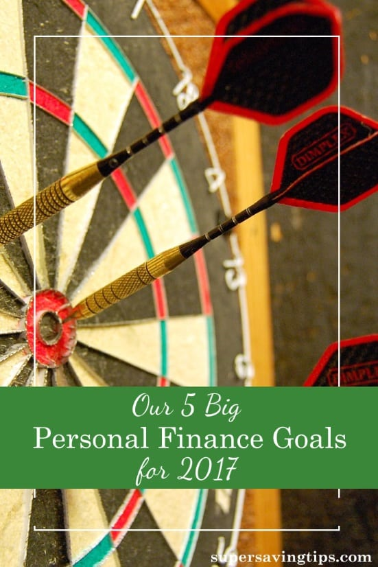 It's important to review your financial progress for the year, and make new goals for the coming year. Here are 5 of our personal finance goals for 2017.