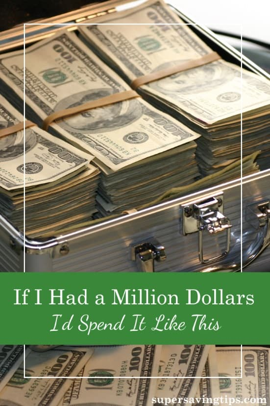Have you ever wondered what you'd do with a million dollars? I've given it a thought or two (or more) and here's how I would spend it.
