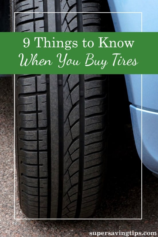 We don't have to buy tires that frequently, especially if we upgrade our cars, but there are a few things that are good to know before you go shopping.