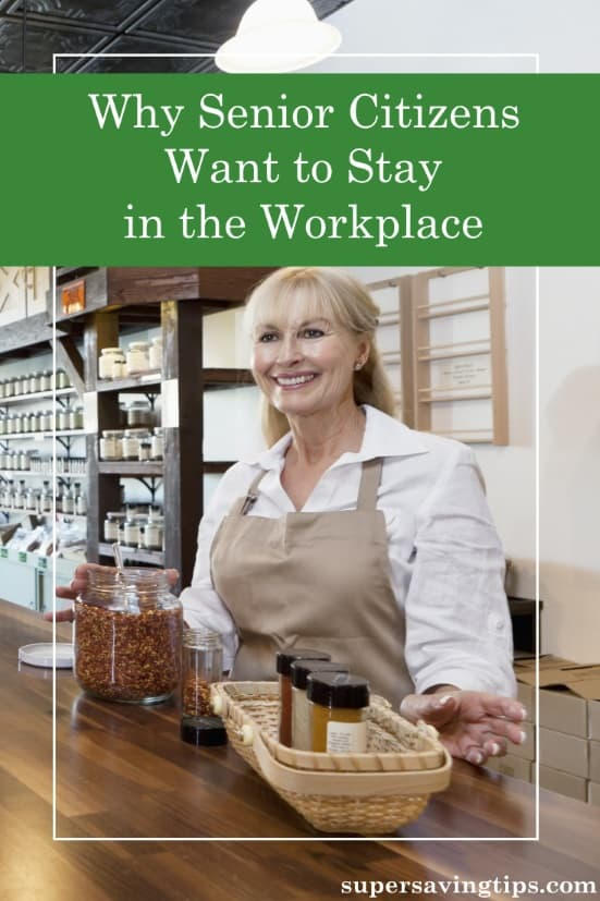 Senior citizen jobs are becoming more important & prevalent as retirees go back to work. Here's some of the reasons why they want to stay in the workplace.