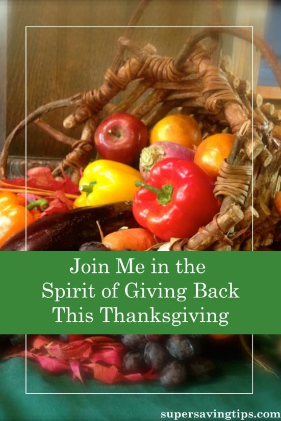 As Thanksgiving approaches, giving back is even more important. Join my Virtual Holiday Food Drive to support the food bank or try one of these other ways.