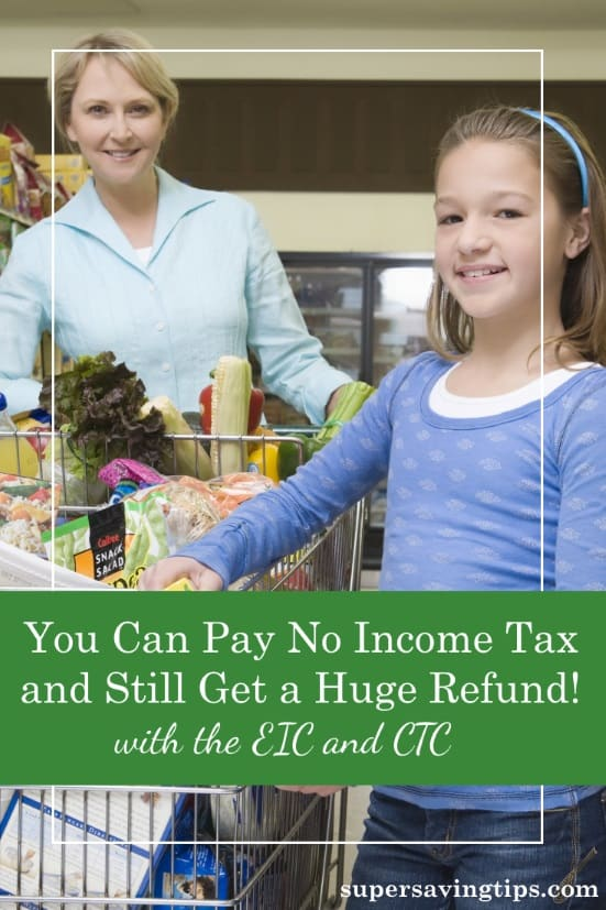 It's possible to pay no income tax and still get a big tax refund if you qualify for the Earned Income Credit and the Child Tax Credit. Here are the details...see whether it can benefit you and your family.