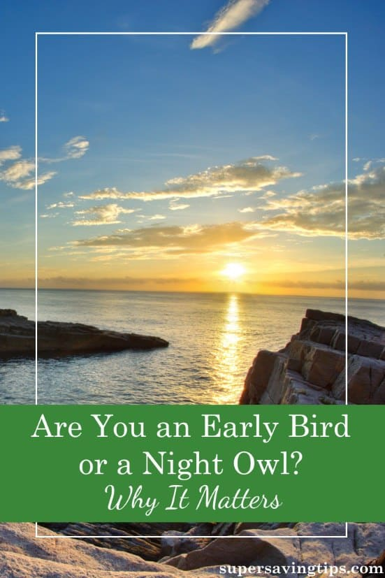 If you're a morning person or a night owl, there are certain advantages and disadvantages. You need to tailor your lifestyle to your chronotype for success.