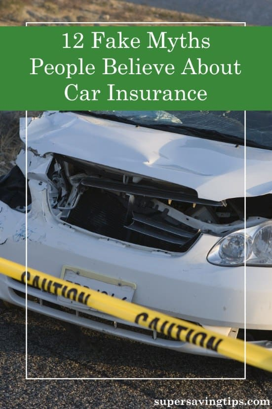 There are lots of car insurance myths that people mistakenly believe, and it could be costing you money. Here are 12 myths and the truth behind them.