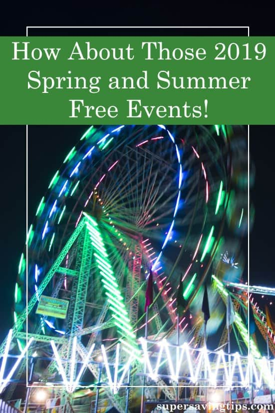 If you like to save on your entertainment budget, now's the time to search for spring and summer free events near you like festivals, concerts, and more.