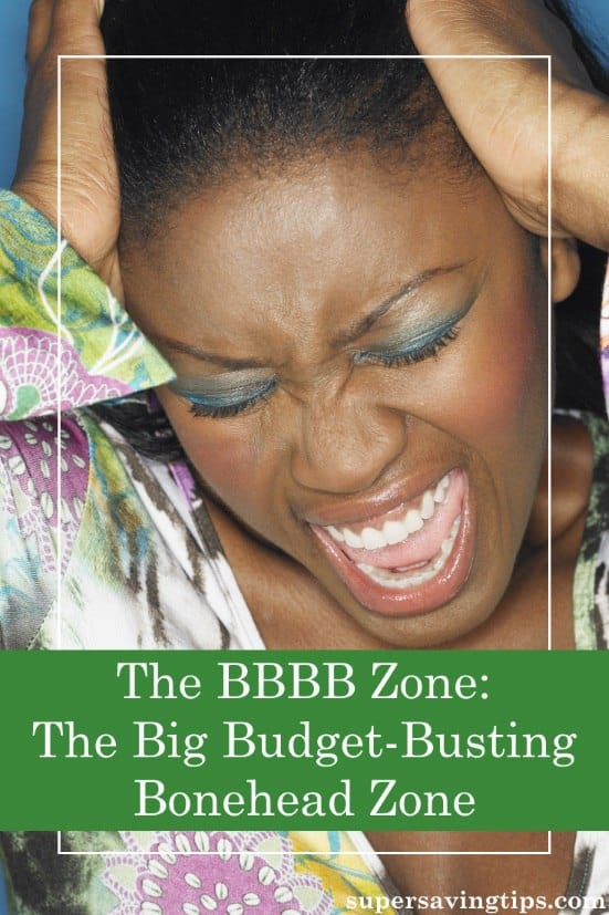 We all have areas of overspending that lead us to the Big Budget-Busting Bonehead Zone. But it is possible to escape!