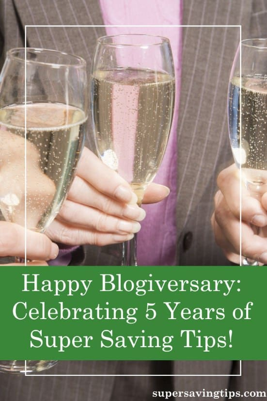 It's time to celebrate Super Saving Tips' 5th blogiversary! Here's a little bit about how far it has come.