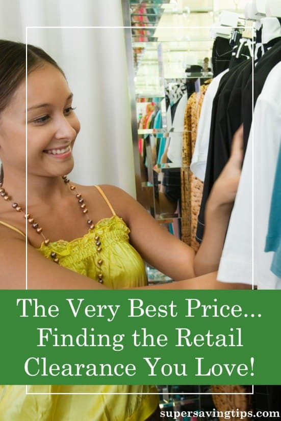 If you want to find the very best prices, you need to check out retail clearance racks. Here's how to find the baragains there.