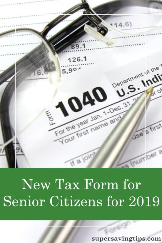 There's a new senior tax form coming for your 2019 tax returns. Form 1040-SR has some good senior benefits, but there are some limitations, too.