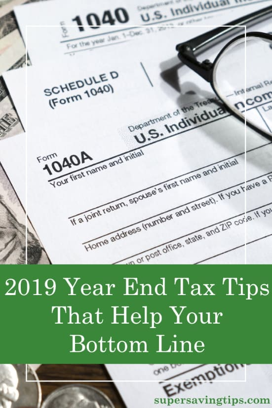 As we're reaching the end of 2019, it's important to follow these year end tax tips now to make sure you're in good shape to file your taxes next year.