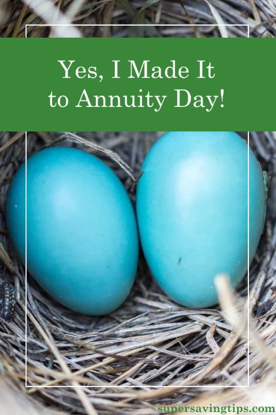 After opening an annuity 20 years ago, I finally made it to annuity day and received my first payment. Annuities can be a good idea in certain situations.