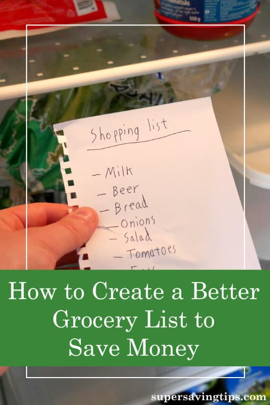 Creating a grocery list will save you money, but what you really want to do is slash your food bill and save thousands every year! Here's how!