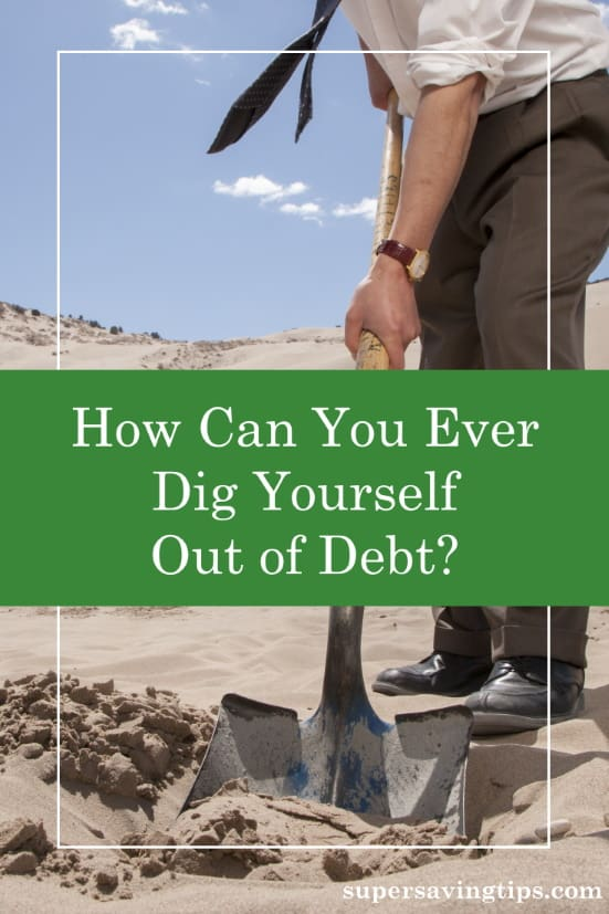 Digging out of debt isn't easy, but it can be done. You simply need to follow these steps to make a plan and stick with it.