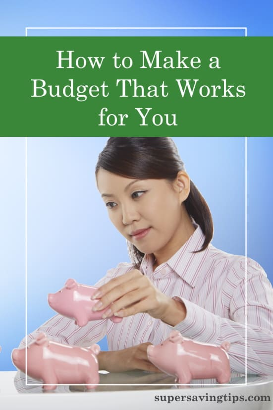 Woman rearranging piggy banks as she figures out how to make a budget that works for you