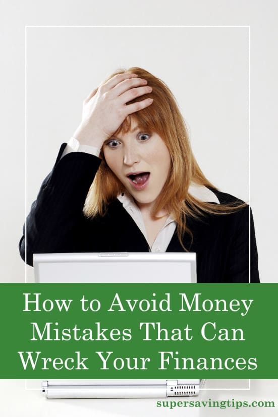 Woman reacting after making money mistake, it's better to avoid money mistakes