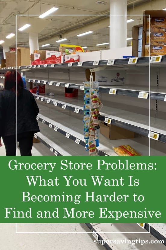 Empty grocery shelves a sign of grocery store problems