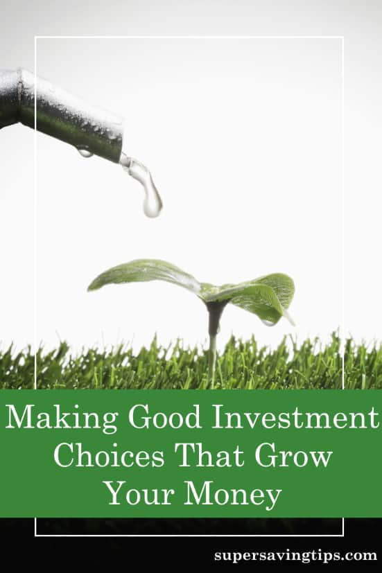 A seedling being watered so it will grow like your investment choices