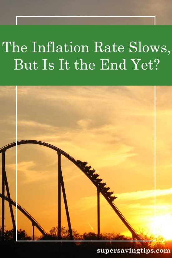 A roller coaster at sunset, representing the wild ride the inflation rate is taking us on