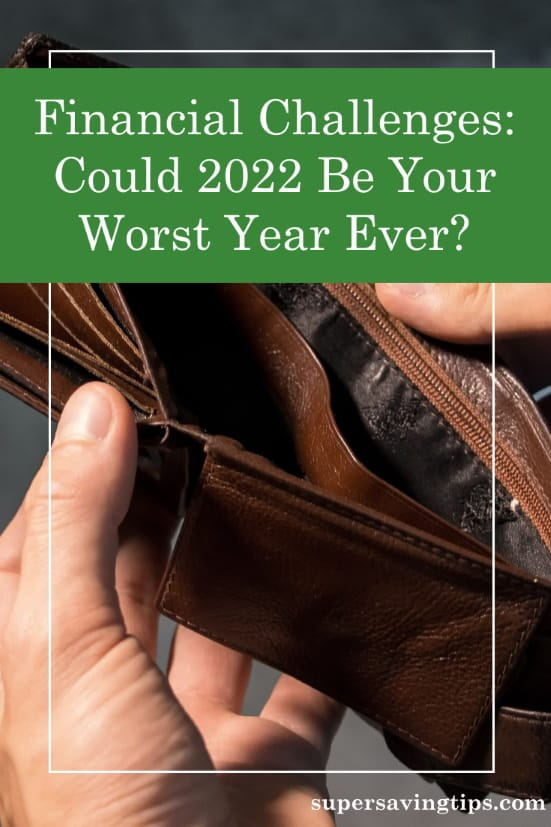 Man with empty pockets representing how 2022 could be the worst year ever financially