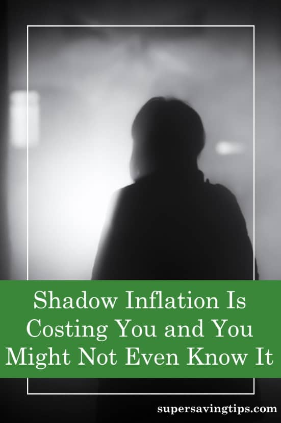 A person's lurking shadow, like the shadow inflation lurking in our goods and services